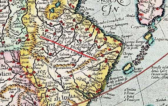 Откровение Гог из земли Магог. Карта Манги.